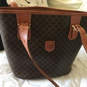Celine Macadam 100% Authentic shoulder Tote Bag